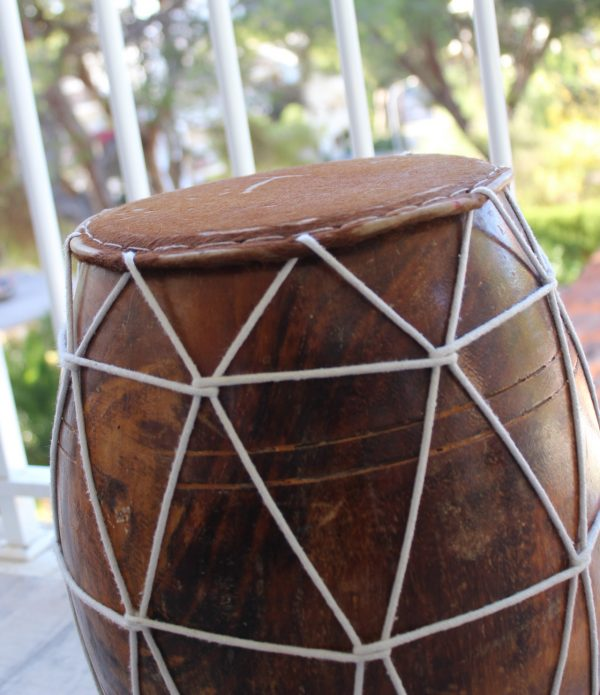 African wooden drum single log