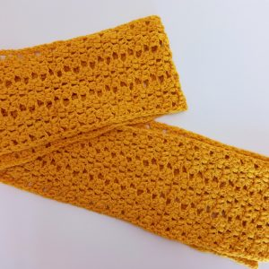 Yellow Alpaca Whool Handmade Scarf-2