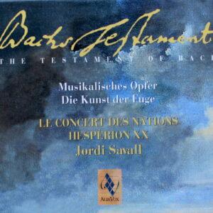 Bach Testament Le Concert des Nations Jordi Savall
